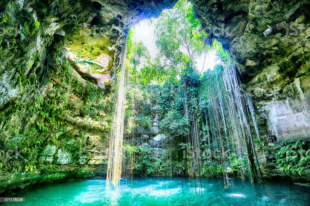 Ik Kil, Yucatan, Mexico stock photo