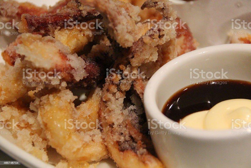 Ika Karaage - Deep Fried Squid stock photo