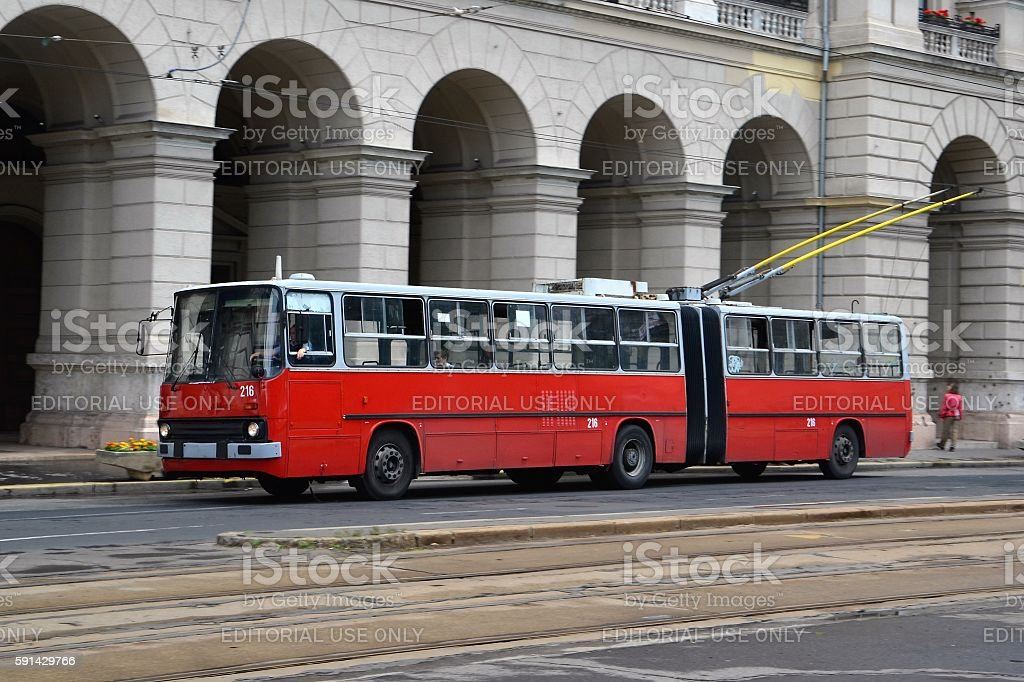 Ikarus on the street in Budapest stock photo