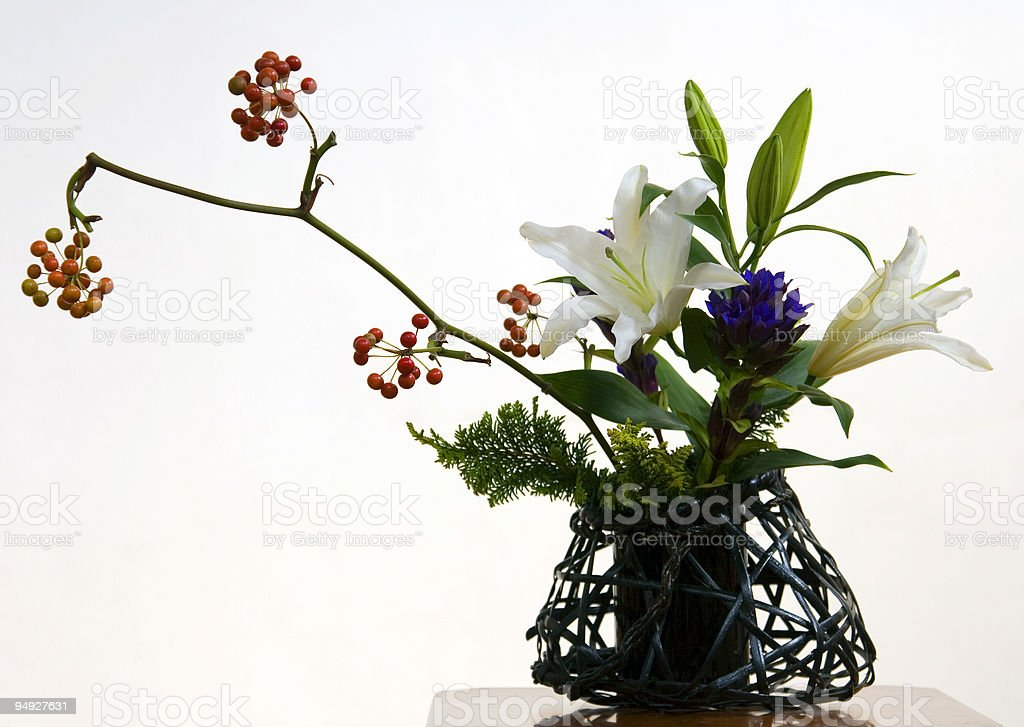 Ikebana III stock photo