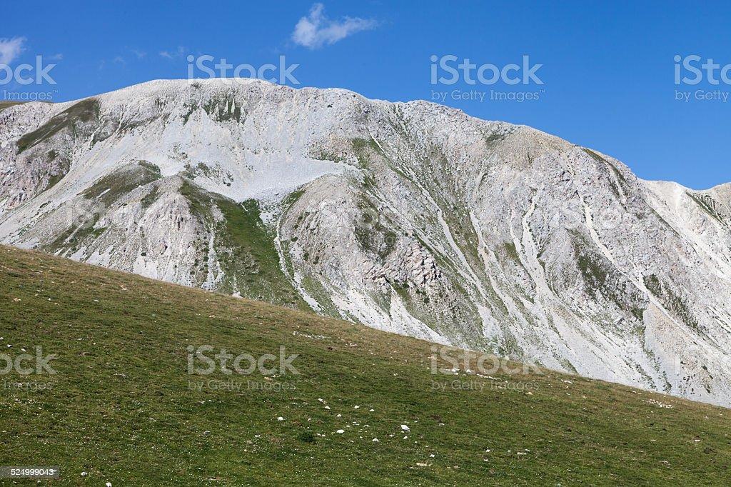 Il Campo Imperatore (Gran Sasso) close to Aquila in Italy stock photo