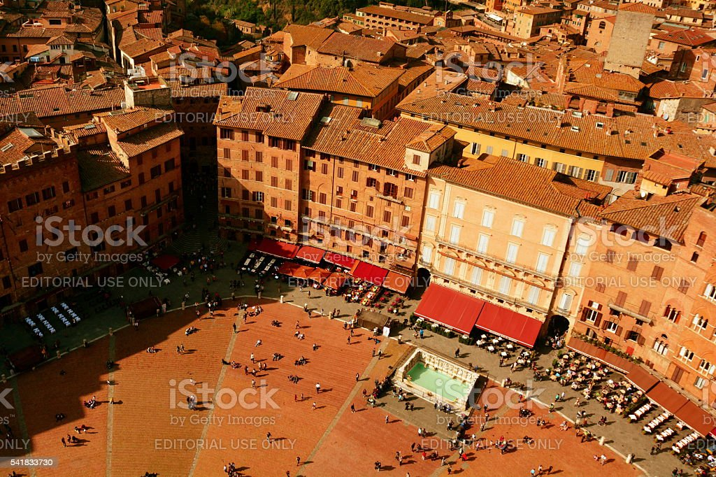 Il Campo Siena Italy stock photo