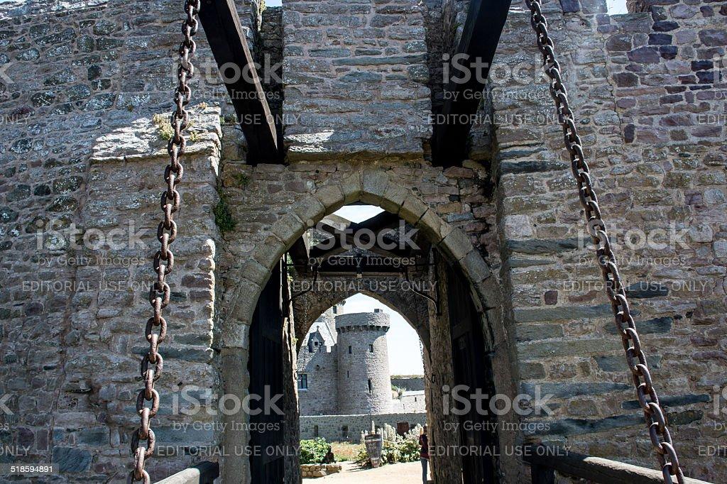 il castello di Fort la Latte stock photo