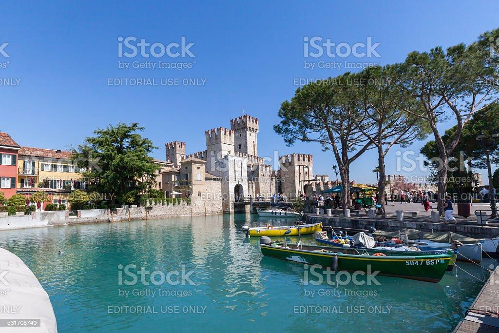 Il Castello di Sirmione, Garda Lake stock photo