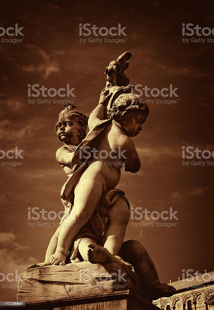 Il Cherubino e Pisa stock photo