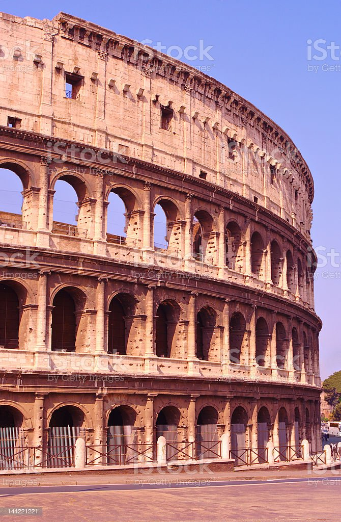 Il Colosseo also known as Flavian Amphitheatre in Rome royalty-free stock photo