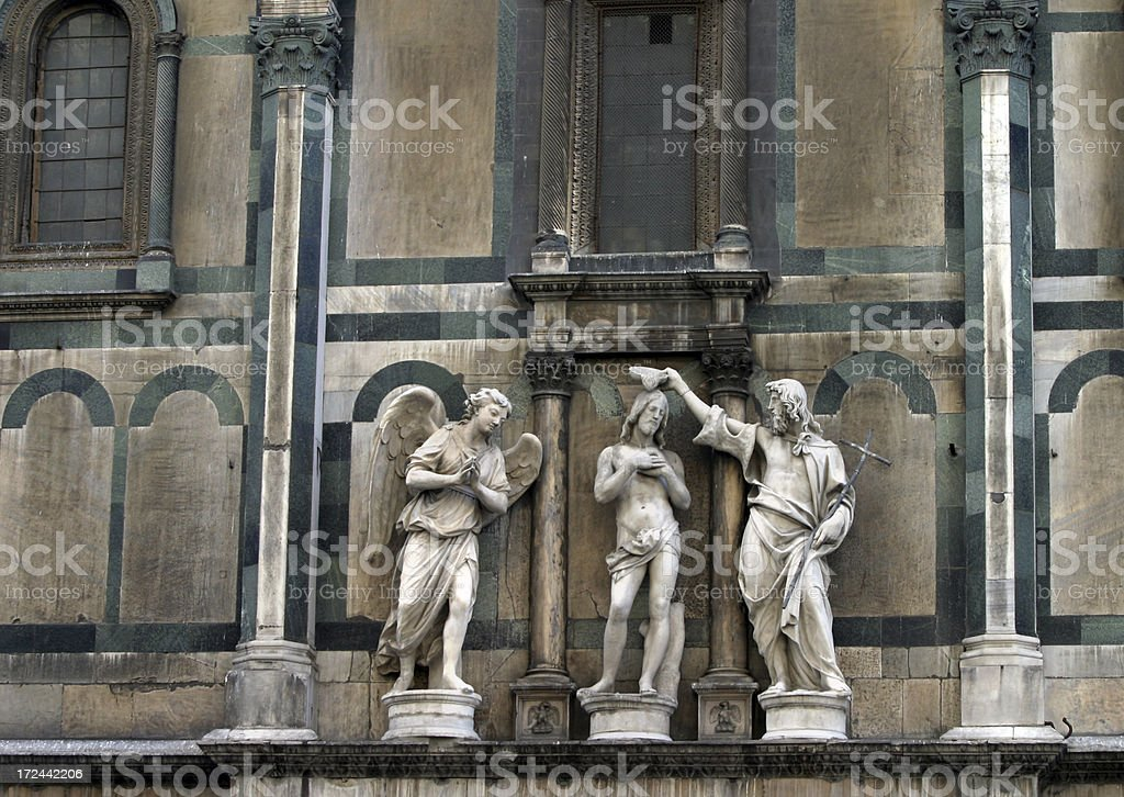 Il Duomo Cathedral Exterior Statuary Florence Italy royalty-free stock photo