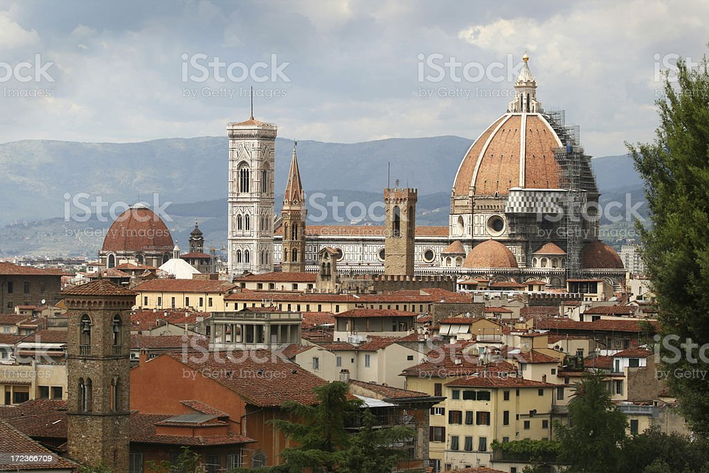 il Duomo in Florence, Tuscany Italy stock photo