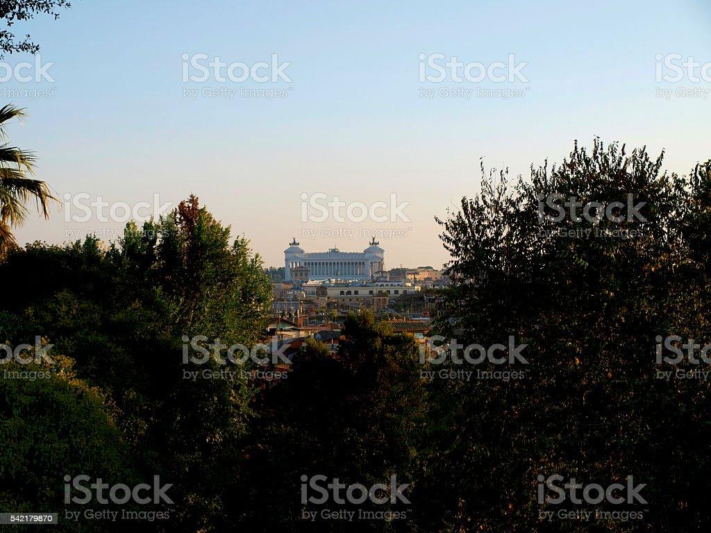 Il Vittoriano (Monument to Vittorio  Emanuel II) stock photo