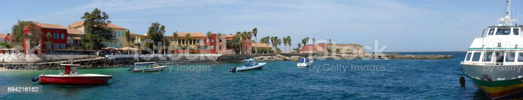 Ile de Goree Island, one of the earliest European settlements in Western Africa, Dakar, Senegal stock photo