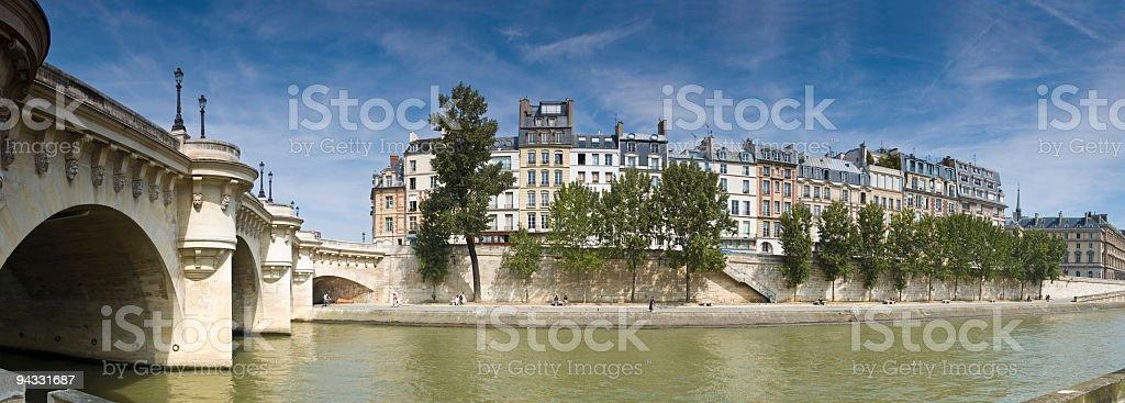 Ile de la Cité and Pont Neuf, Paris stock photo