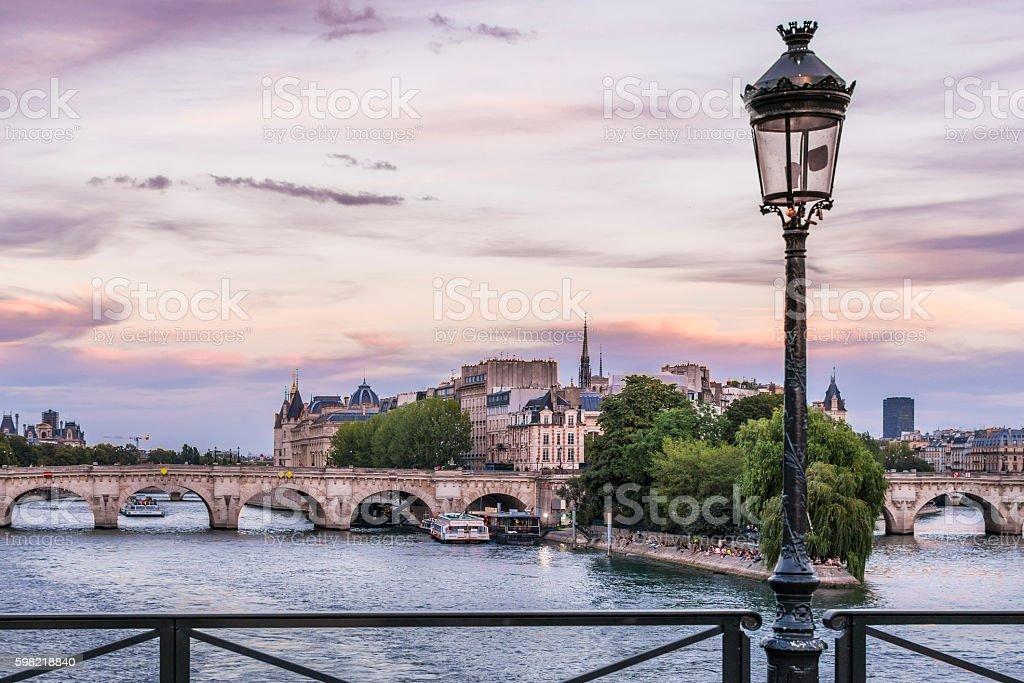 Ile de la Cite in Paris stock photo