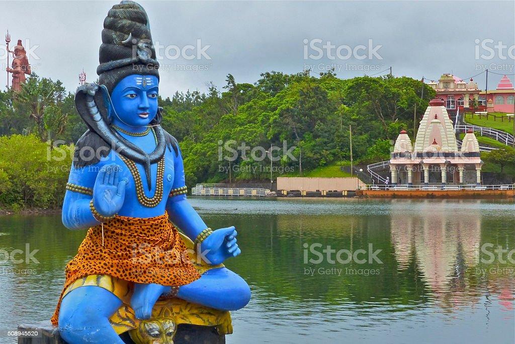 Ile Maurice- Grand Bassin, Shiva, statue stock photo