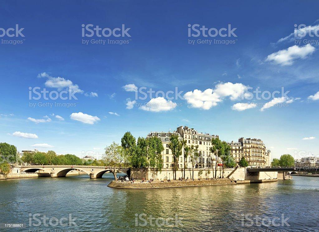 Ile Saint-Louis, Paris stock photo