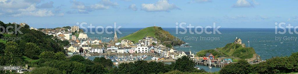 Ilfracombe Harbour, Devon, England stock photo