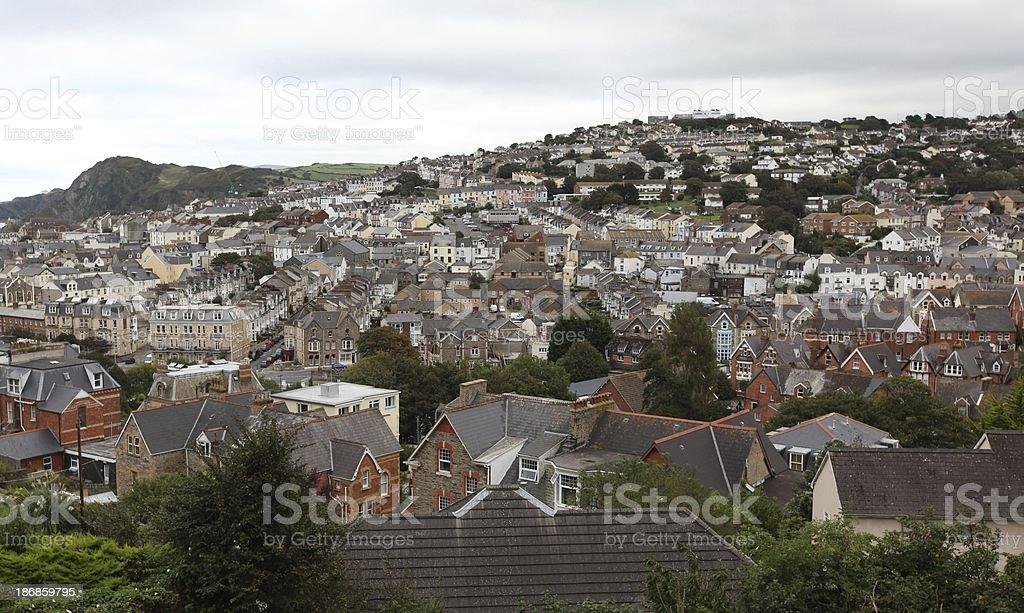 Ilfracombe rooftops stock photo