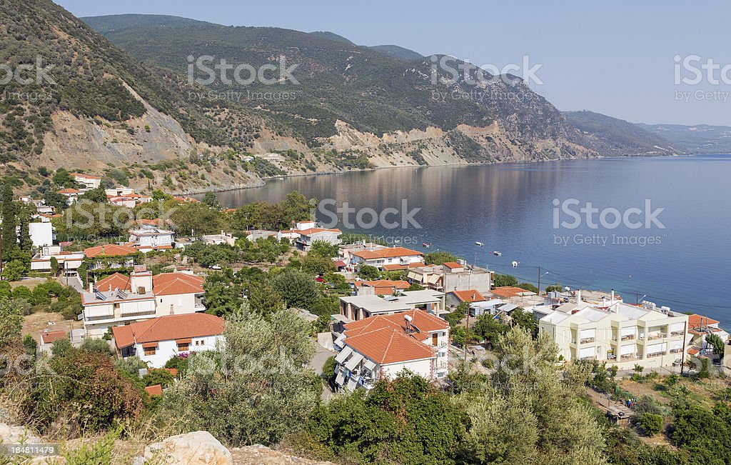 Ilia village, North Euboea, Greece stock photo