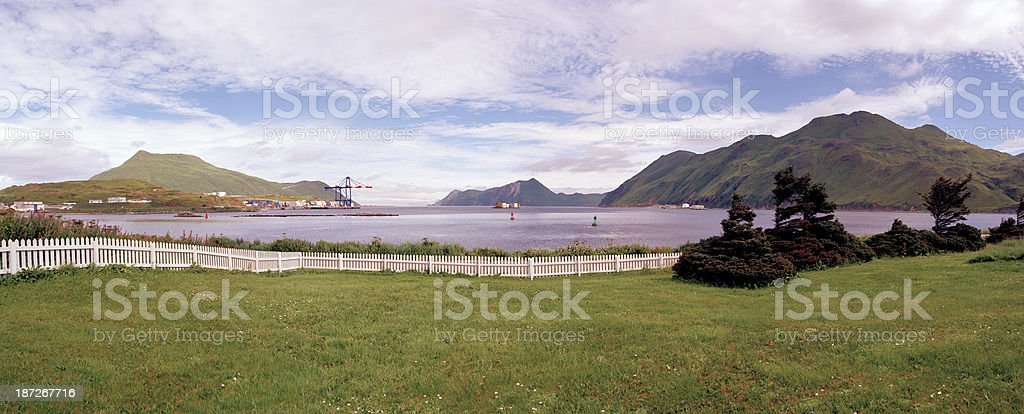 Iliuliuk Bay, Dutch Harbor, Alaska stock photo
