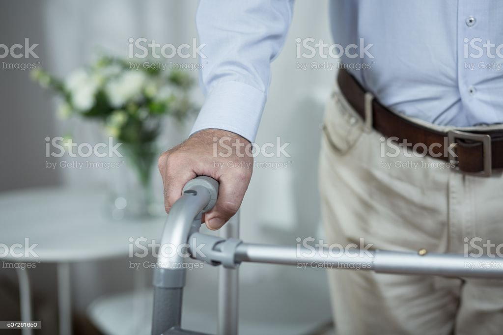 Ill and disabled stock photo