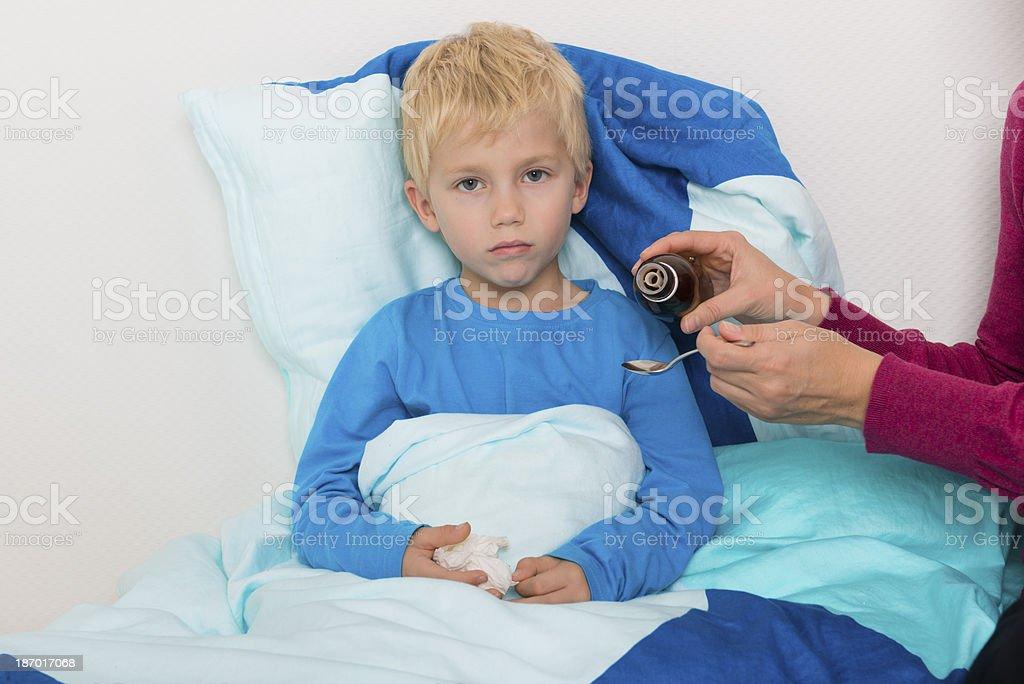 Ill boy royalty-free stock photo