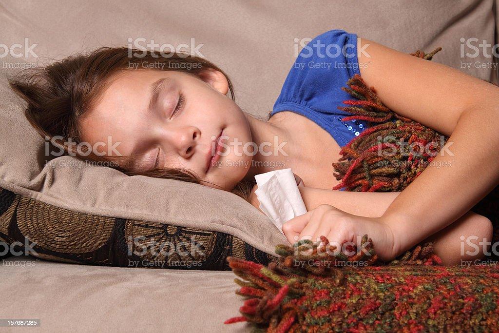 Ill Child Sleeping stock photo