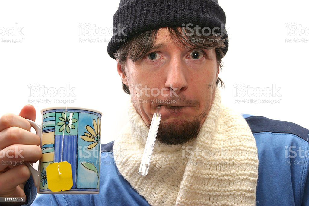 Ill man royalty-free stock photo