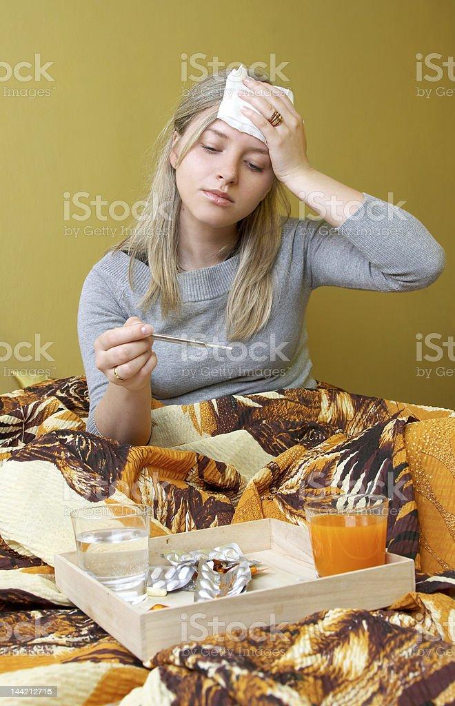 ill woman royalty-free stock photo