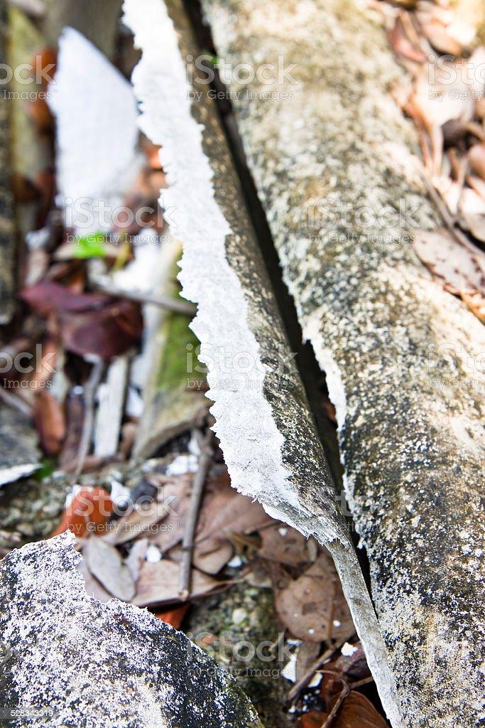 Illegal asbestos Dumping stock photo