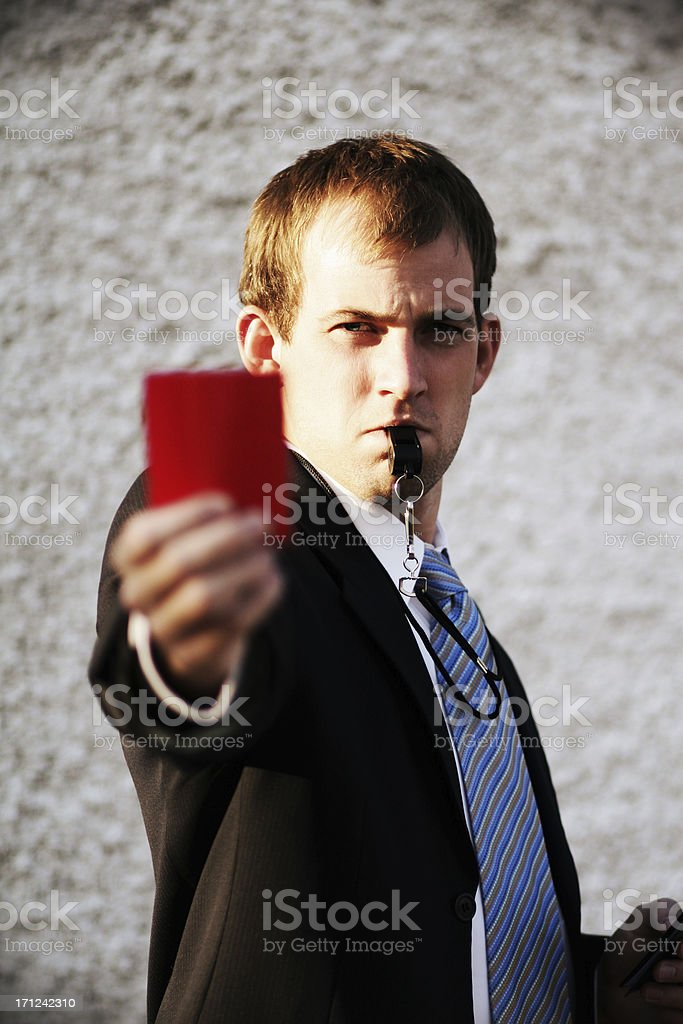 Illegal Business (Man Focus) royalty-free stock photo