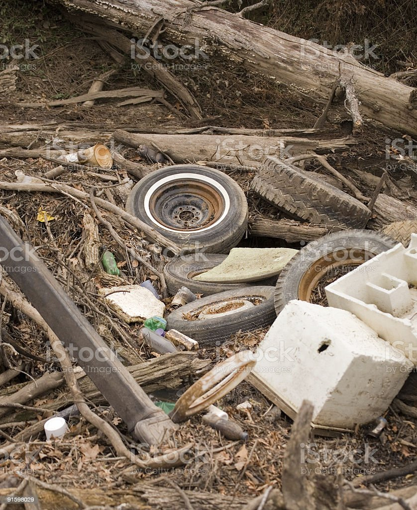 Illegal Dumping royalty-free stock photo