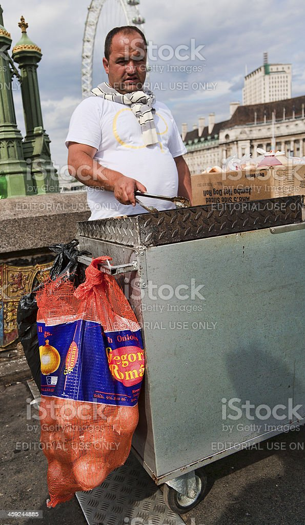 Illegal Fast food Vendor, London royalty-free stock photo