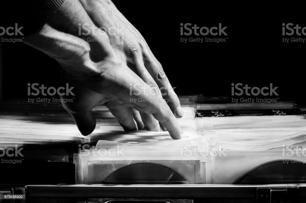 Illegal pirated market of compact disc with music and movies downloaded from the internet. stock photo