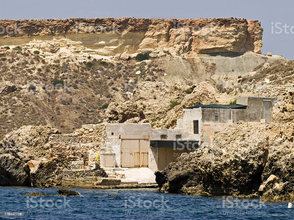 Illegal Shoreline Construction royalty-free stock photo