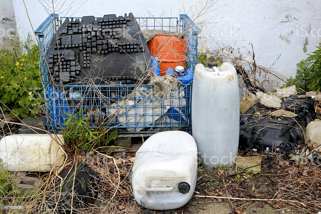 illegal waste stock photo