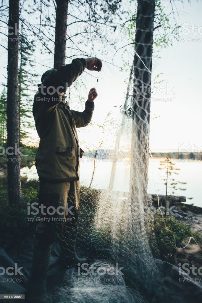Illegal Web Fishing stock photo