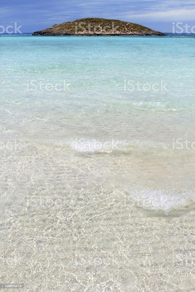 Illetes beach islands Formentera Balearic island royalty-free stock photo