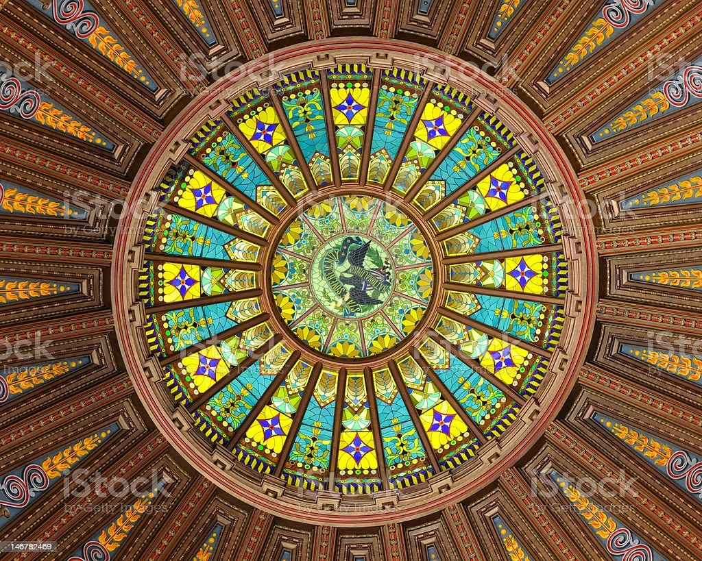 Illinois Capitol Building Dome royalty-free stock photo