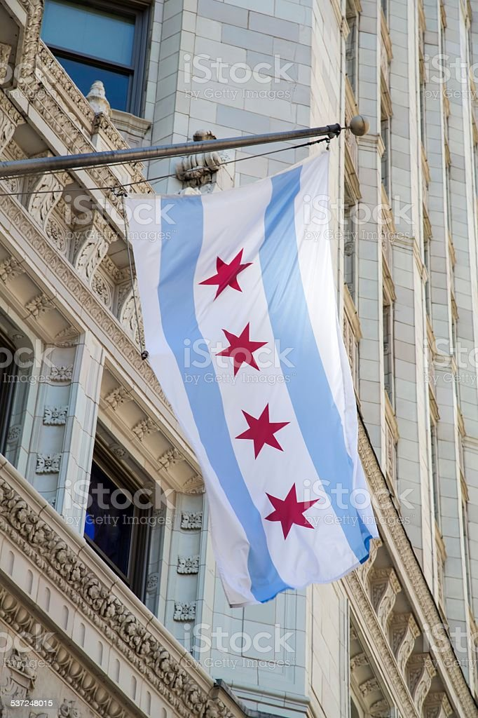USA - Illinois - Chicago, Flag stock photo
