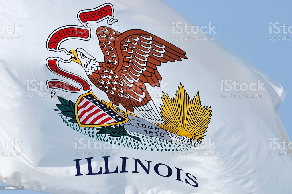 Illinois Flag royalty-free stock photo