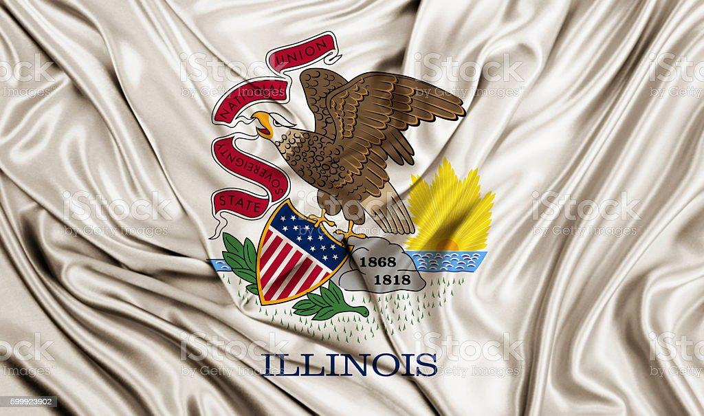 Illinois flag stock photo