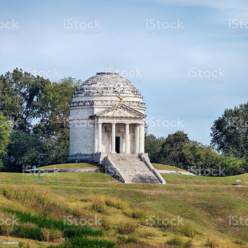 Illinois Memorial In Vicksburg, Mississippi stock photo