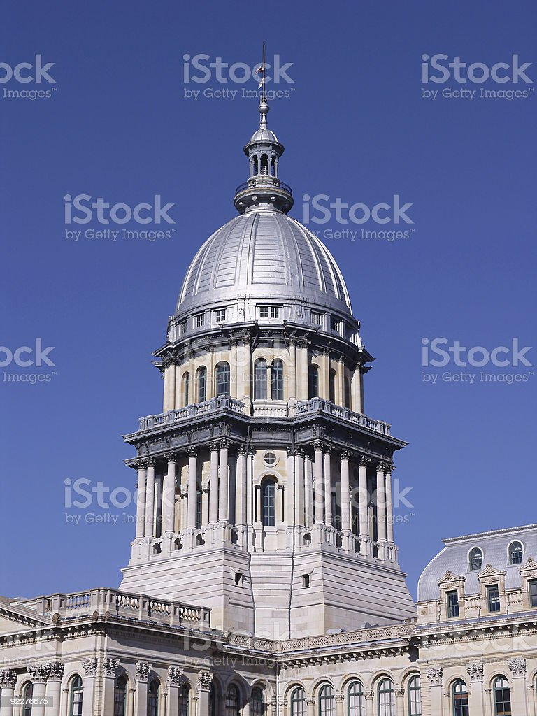 Illinois State Capitol Building royalty-free stock photo