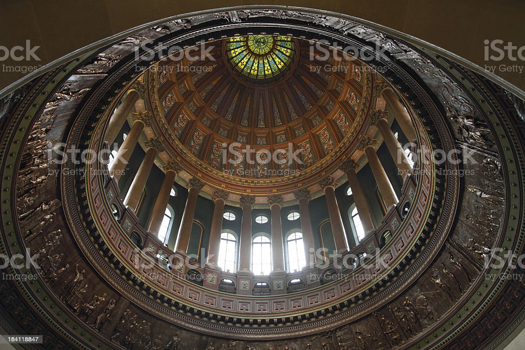 Illinois State Capitol interior stock photo