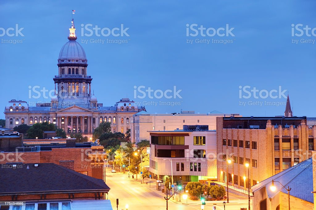 Illinois State Capitol royalty-free stock photo