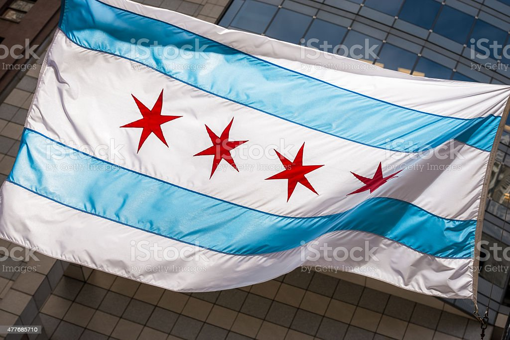 Illinois State Flag stock photo