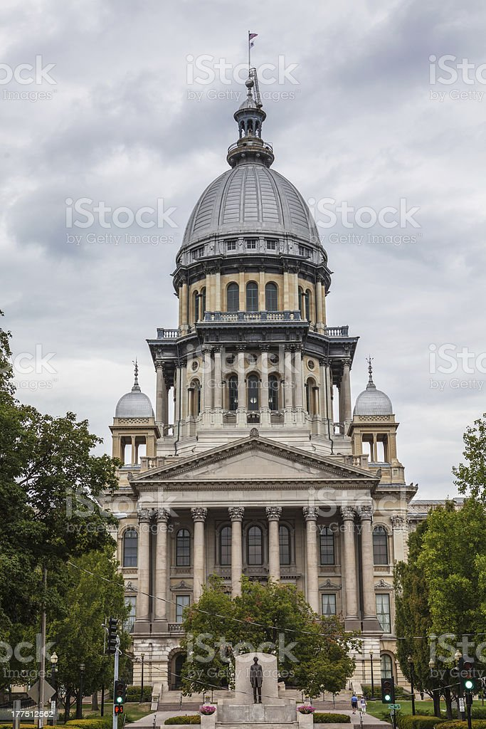 Illinois State House and Capitol Building stock photo
