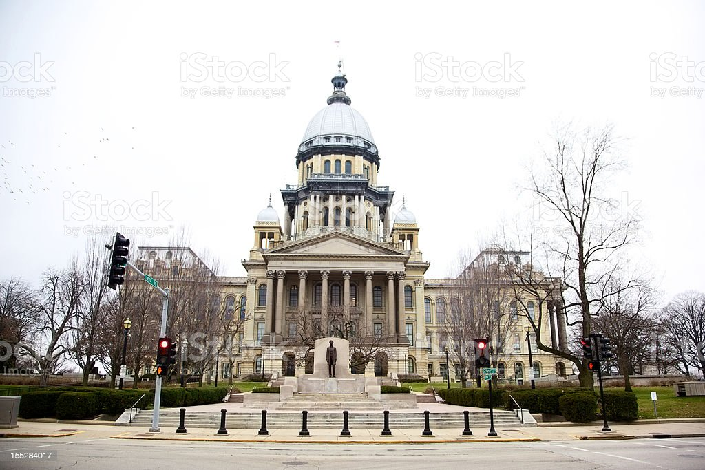 Illinois State House Capitol - Springfield stock photo