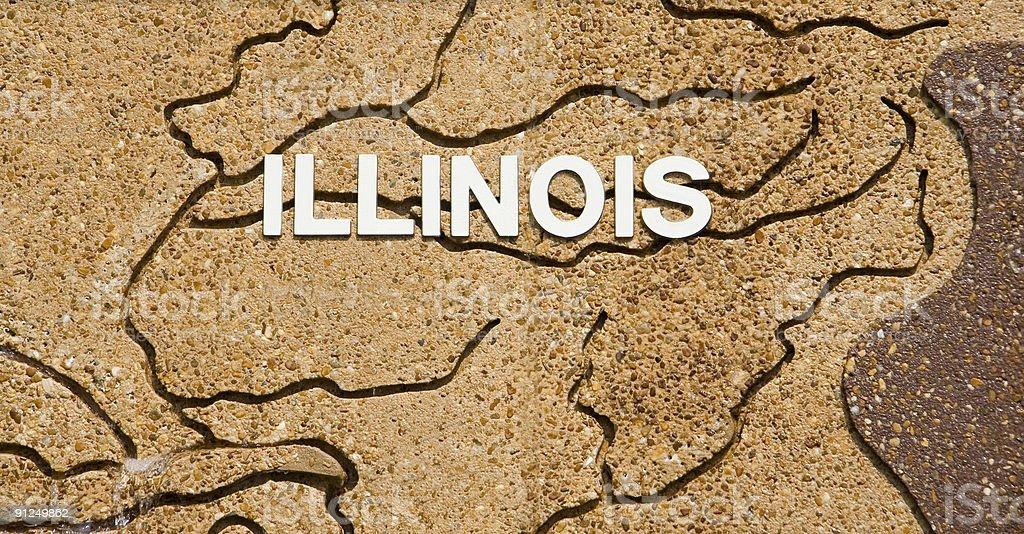Illinois Text royalty-free stock photo