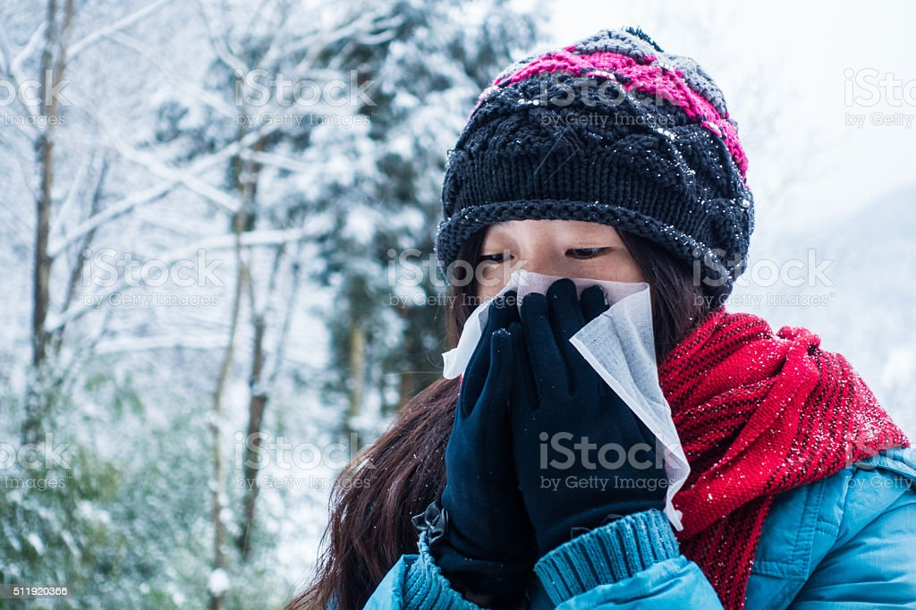 Illness in winter is very popular stock photo