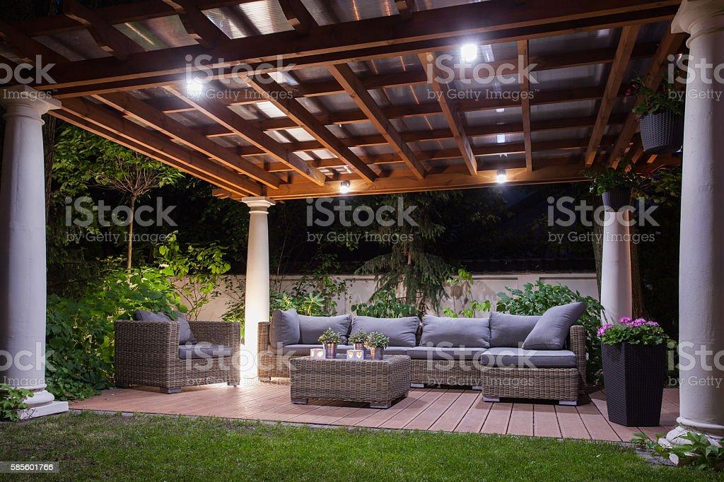 Illuminated and tasteful stock photo